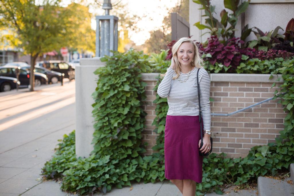 Burgendy Skirt zoomed back
