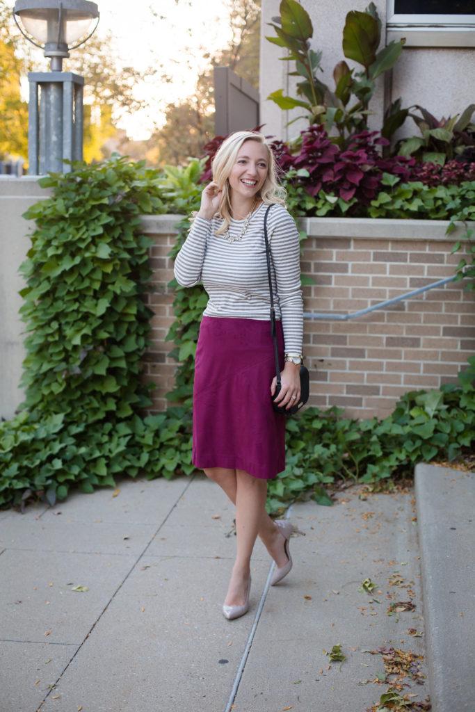 JCrew Skirt Cross Leg