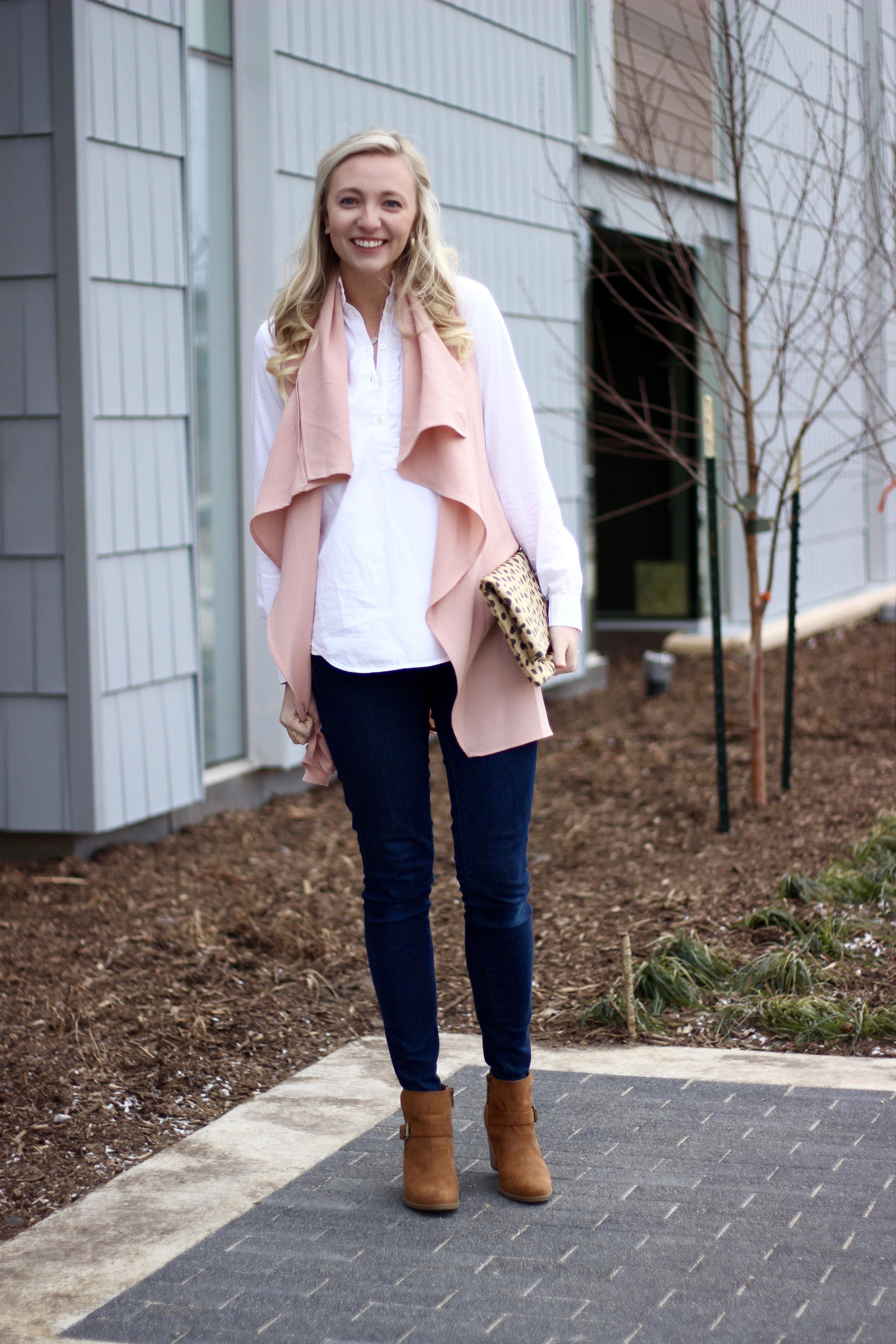Blush Pink Vest