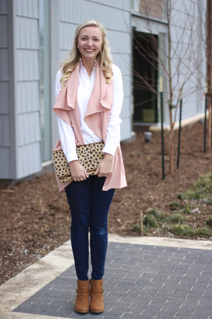 iA Dash of Bruck Valentines Day look Pink Vest Leopard Clutch Photo 1