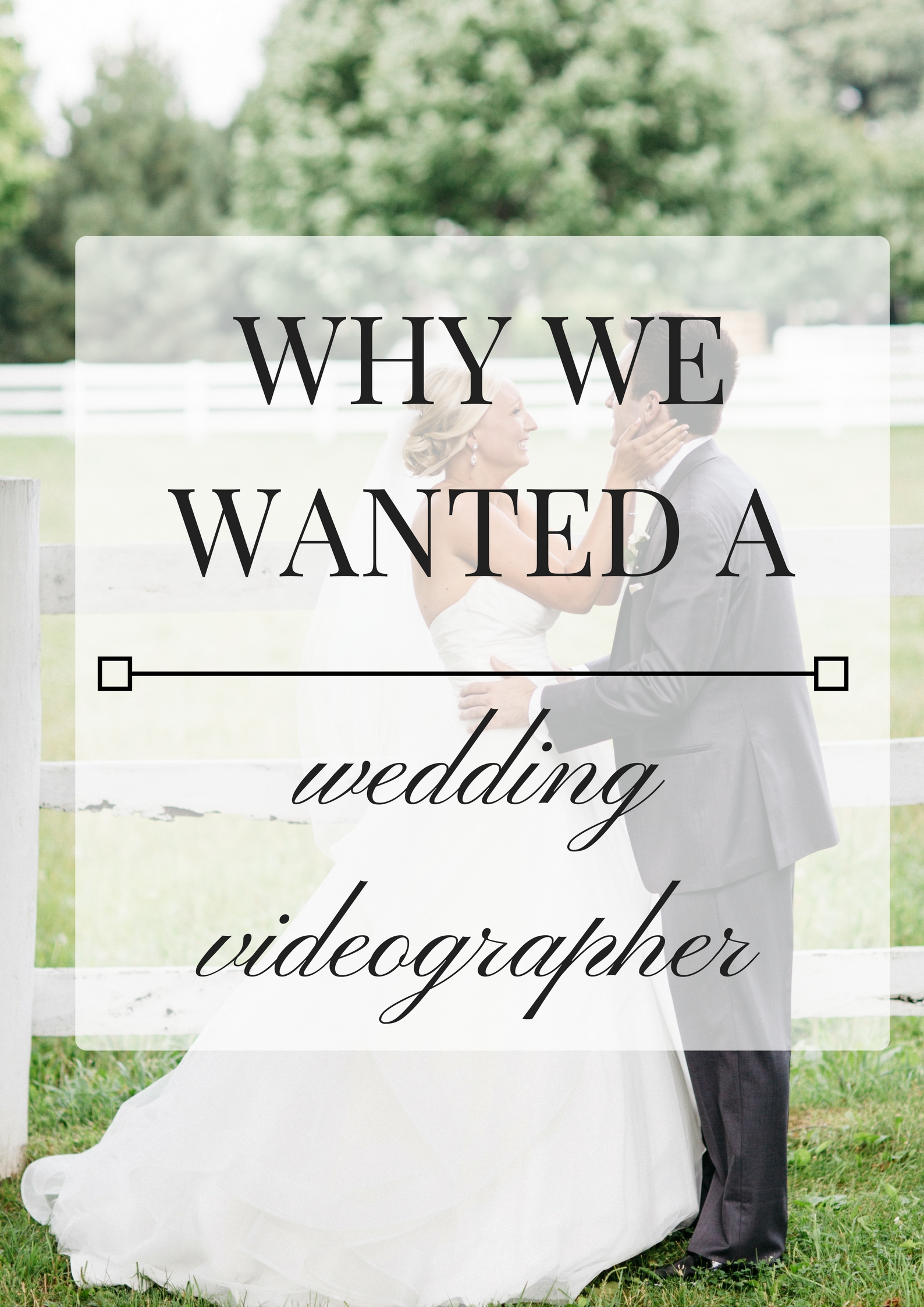 Why we wanted a wedding videographer [our wedding video]