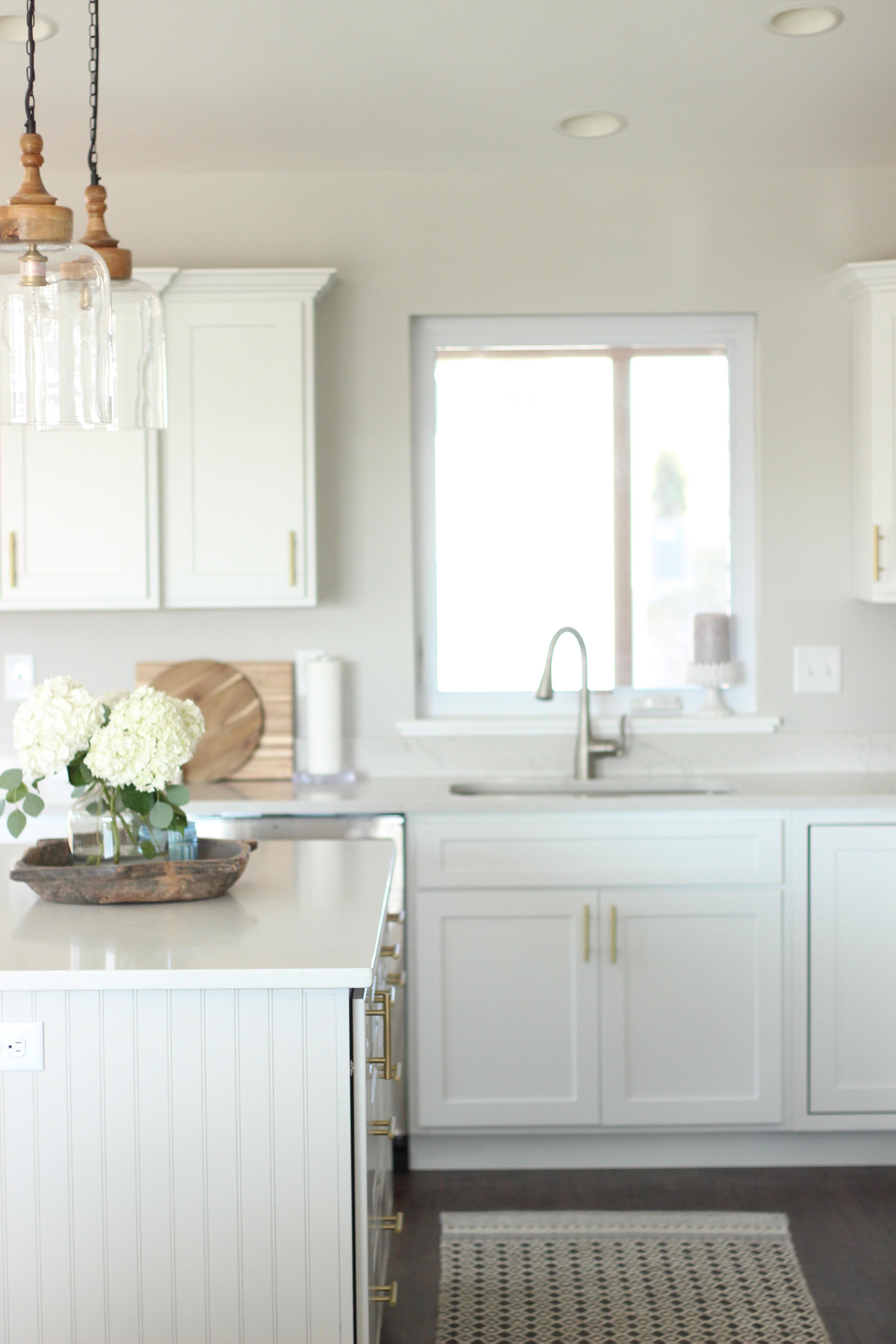 Bright White Modern Farmhouse Kitchen Reveal - A Dash of Bruck